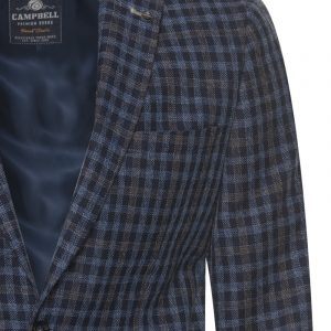 Campbell colbert Donkerblauw grote ruit